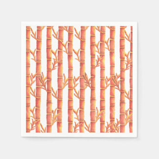 The Orange Bamboo Garden Disposable Napkin
