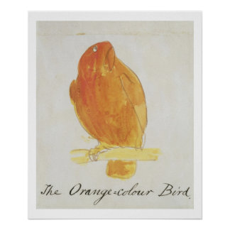 The Orange Colour Bird, from 'Sixteen Drawings of Poster