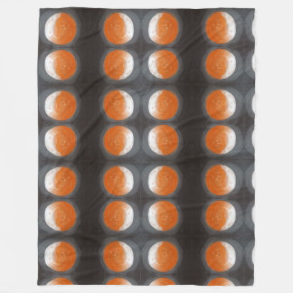 The Orange Planet - all over print tote bag Fleece Blanket
