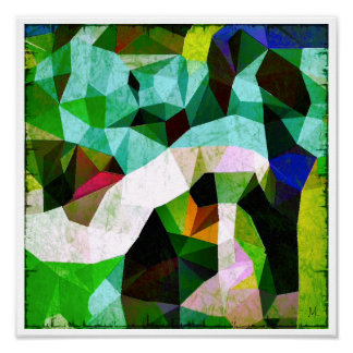 The Orchard Abstract Urban Grunge Poster