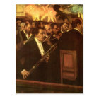 The Orchestra of Opera by Edgar Degas, Vintage Art Postcard