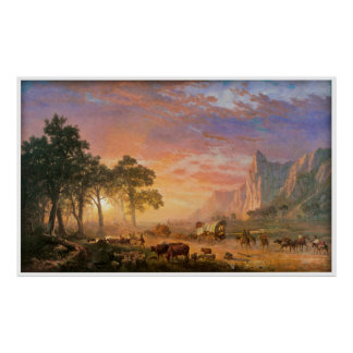 The Oregon Trail by Albert Bierstadt 1869 Poster