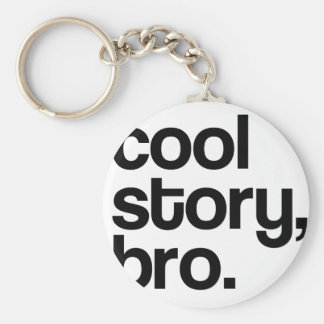 THE ORIGINAL COOL STORY BRO BASIC ROUND BUTTON KEYCHAIN