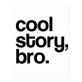 THE ORIGINAL COOL STORY BRO POSTCARD