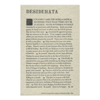 The Original Desiderata Poster by Max Ehrmann