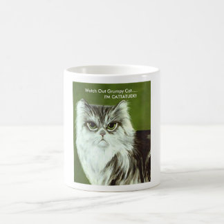 "The Original Grumpy Cat ""CATATUDE MUG"" Classic White Coffee Mug"