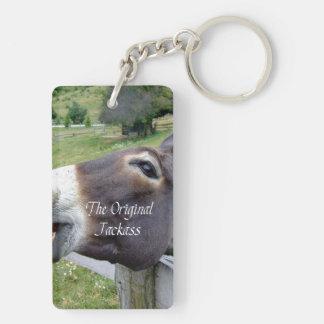 The Original Jackass Funny Donkey Mule Farm Animal Rectangular Acrylic Key Chains