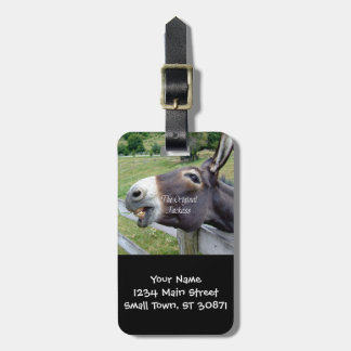 The Original Jackass Funny Donkey Mule Farm Animal Luggage Tag