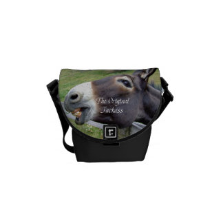 The Original Jackass Funny Donkey Mule Farm Animal Messenger Bags