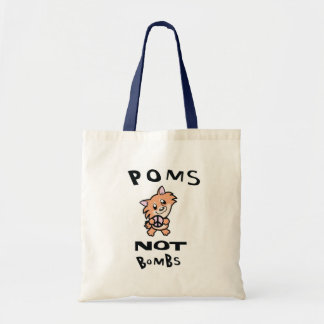THE Original, one and only Poms Not Bombs Tote Bag