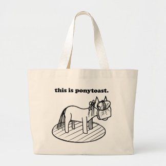 The Original Ponytoast! Large Tote Bag