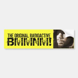 the original radioactive bmmnmper sticker bumper sticker