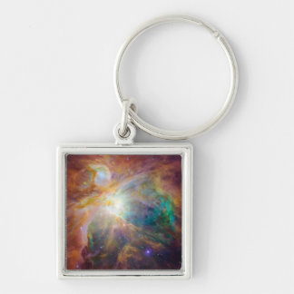The Orion Nebula 3 Silver-Colored Square Keychain