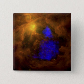 The Orion nebula in the infrared 2 Inch Square Button