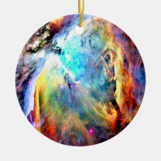 The Orion Nebula Round Ceramic Ornament