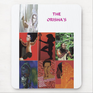 THE ORISHAS BY LIZ LOZ MOUSE PAD