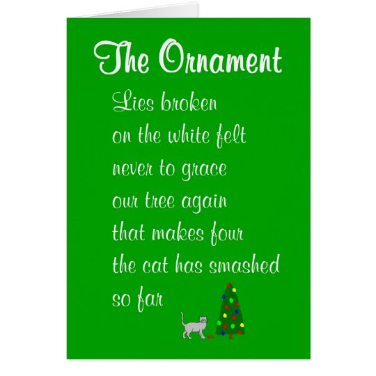 The Ornament - a funny Christmas poem Card
