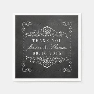 The Ornate Chalkboard Wedding Collection Disposable Napkin