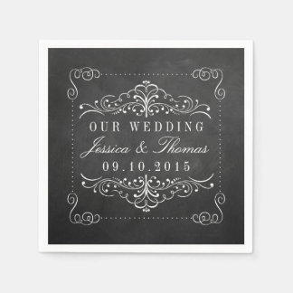 The Ornate Chalkboard Wedding Collection Paper Napkin