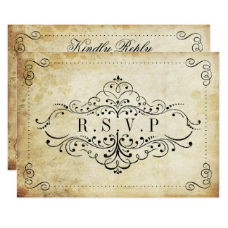 "The Ornate Flourish Vintage Wedding Collection 3.5"" X 5"" Invitation Card"