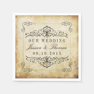 The Ornate Flourish Vintage Wedding Collection Paper Napkins