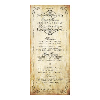 The Ornate Flourish Vintage Wedding Collection Customized Rack Card