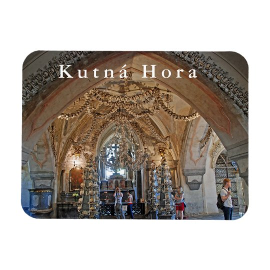The ossuary in Sedlec or the Church of All Saints. Magnet