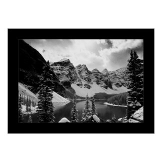 The Other Moraine Lake (Black & White) Poster