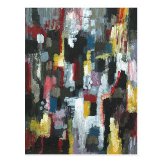 The Other Night ( abstract expressionism) Postcard