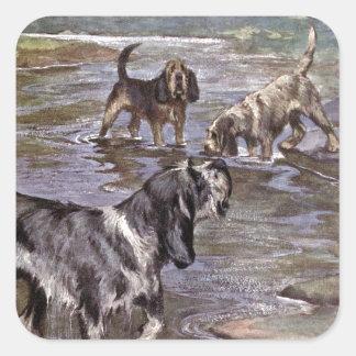 The Otterhound Square Sticker