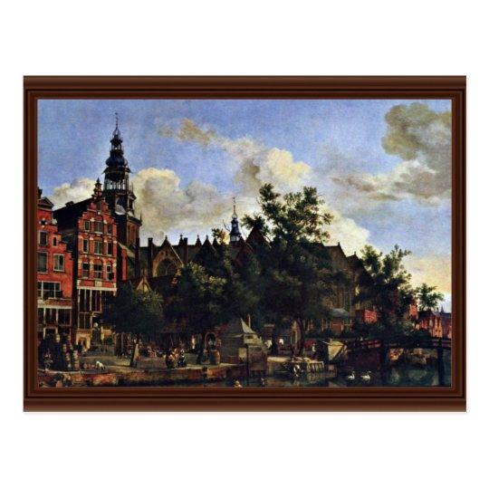 The Oudezijds Voorburgwal And The Oude Kerk In Ams Postcard