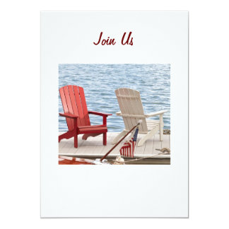 "THE OUTDOOR PARTY INVITATION OF ALL INVITES! 5"" X 7"" INVITATION CARD"