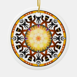 The Outliners Round Ceramic Ornament