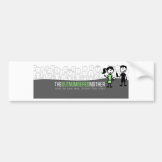 The Outnumbered Mother Bumpersticker Bumper Sticker