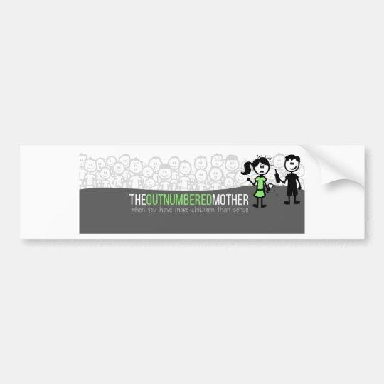The Outnumbered Mother Bumpersticker Bumper Sticker
