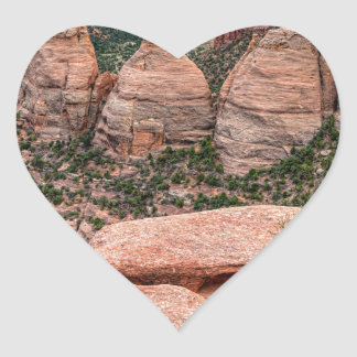 The Ovens Rock Formation Western Landscape Heart Sticker