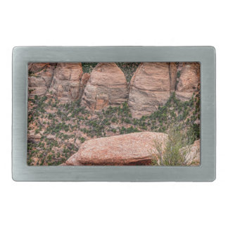 The Ovens Rock Formation Western Landscape Rectangular Belt Buckles