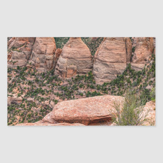 The Ovens Rock Formation Western Landscape Sticker