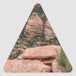 The Ovens Rock Formation Western Landscape Triangle Sticker