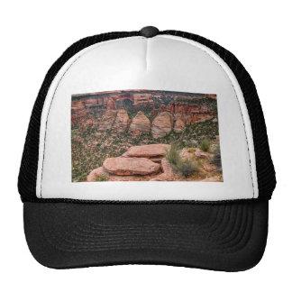 The Ovens Rock Formation Western Landscape Trucker Hat