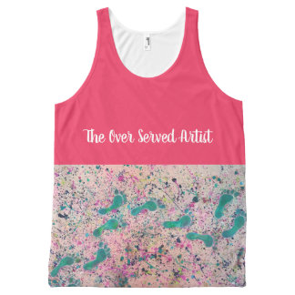 The Over Served Artist Abstract Footsteps All-Over-Print Tank Top