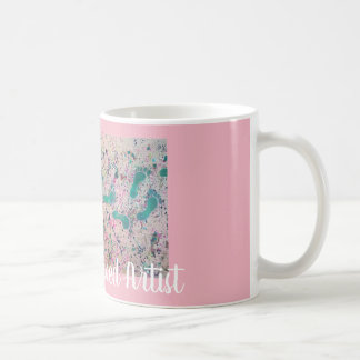 The Over Served Artist Abstract Footsteps Coffee Mug