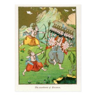 The Overthrow of Ravana Postcard