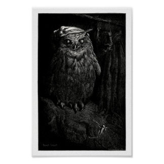 The owl and the grasshopper poster