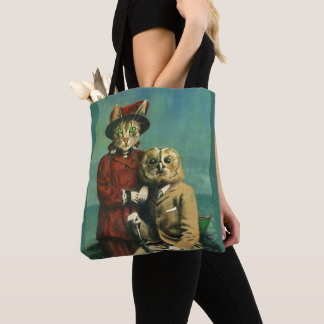 The Owl And The Pussy Cat All Over Print Tote Bag