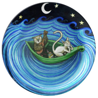 The Owl and The Pussy Cat porcelain plate