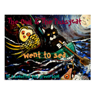 The owl and the pussycat postcard