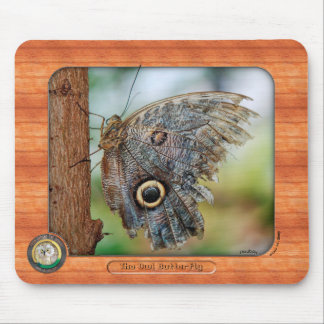 The Owl Butterfly Mousepad