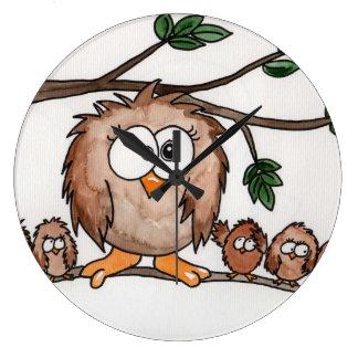 The Owl Family Clock
