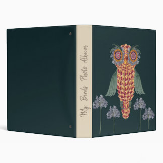 The Owl of wisdom and flowers 3 Ring Binders